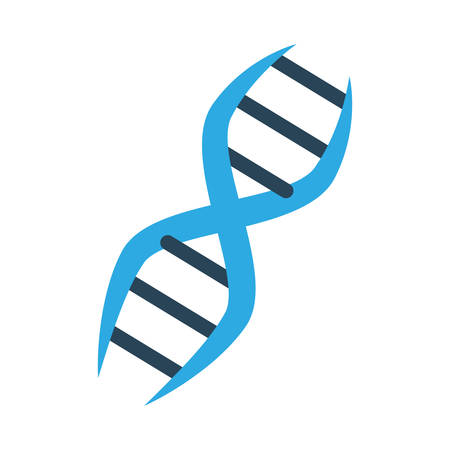 DNA human genetic icon vector illustration graphic design