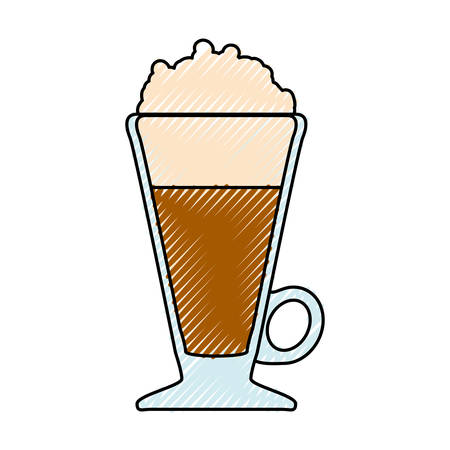 Delicious cold coffee icon vector illustration graphic design