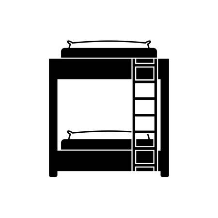 stateroom: Bed room symbol icon vector illustration graphic design