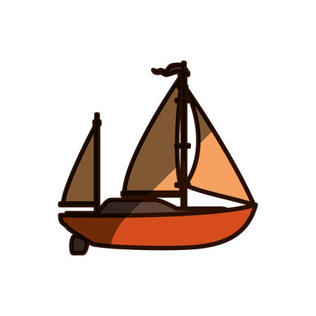 Sail boat isolated icon vector illustration graphic design