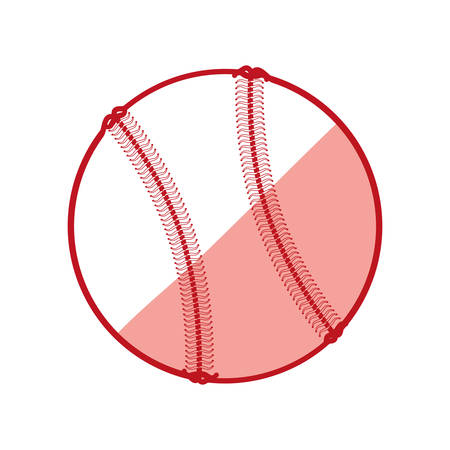 Baseball ball isolated icon vector illustration graphic design Illustration