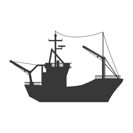 Fishing boat isolated icon vector illustration graphic design 向量圖像
