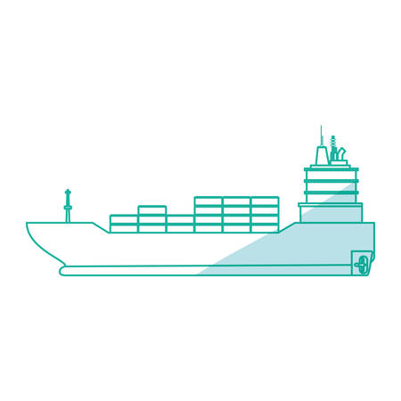 dinghy: Freigther boat ship icon vector illustration graphic design