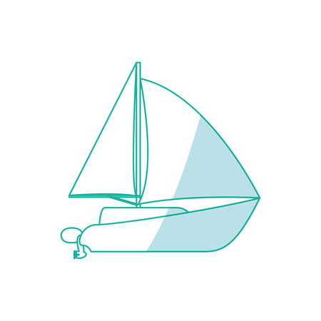 dinghy: Sail boat isolated icon vector illustration graphic design