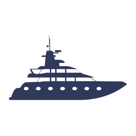 dinghy: Yacht luxury boat icon vector illustration graphic design