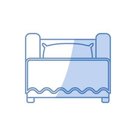 nighttime: Bed room symbol icon vector illustration graphic design