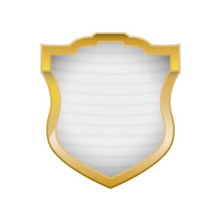 to drown: Diseño gráfico del ejemplo del vector del icono del símbolo de la seguridad del escudo