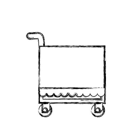 urgency: Food service trolley icon vector illustration graphic design