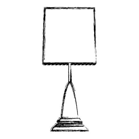 nobody: Bedside lamp silhouette icon vector illustration graphic design