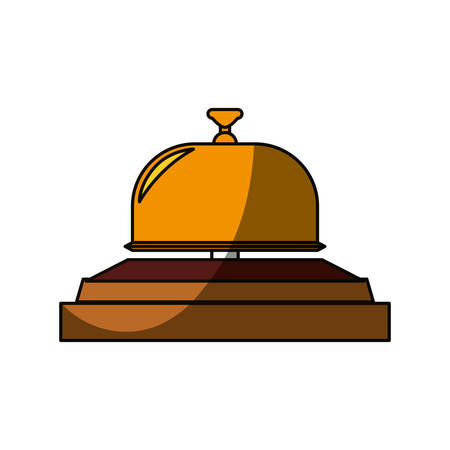 Hotel ring bell icon vector illustration graphic design