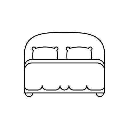 Bed kamer symbool pictogram vector illustratie grafisch ontwerp