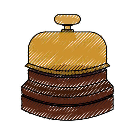 urgency: Hotel ring bell icon vector illustration graphic design