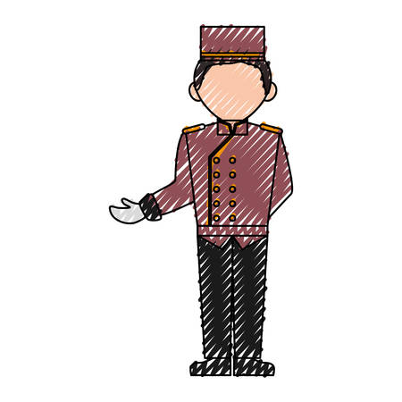 bell boy hotel icon vector illustration graphic design