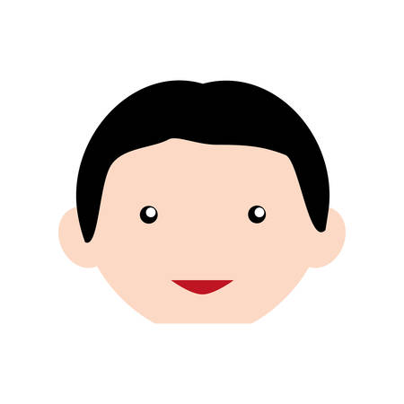 funny pictures: Guy face cartoon icon vector illustration graphic design Illustration