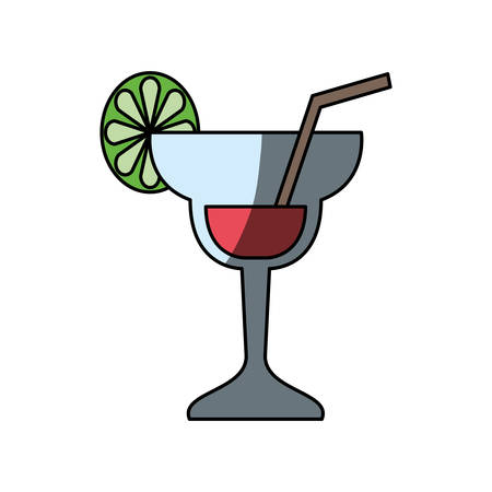 Cocktail glass symbol icon vector illustration graphic design Illustration