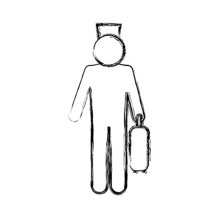 Bell boy pictogram icon vector ilustration graphic
