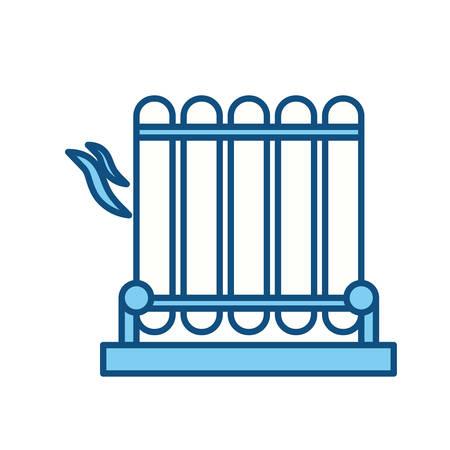 barbecue stove: electric grill symbol icon vector illustration graphic design