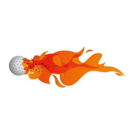 Golf ball in flammes icon vector illustration graphic design Illustration