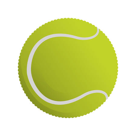 pastime: Tennis ball isolated icon vector illustration graphic design