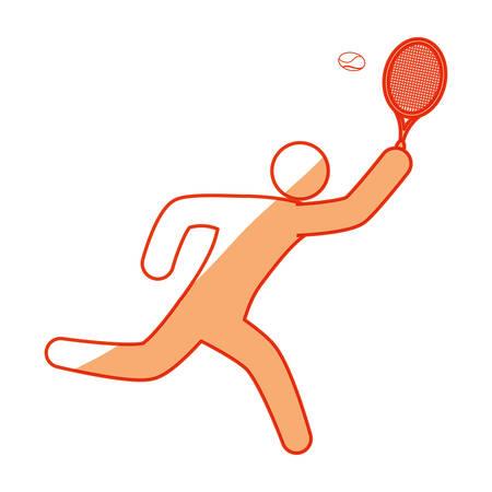 Tennis player pictogram icon vector illustration graphic design