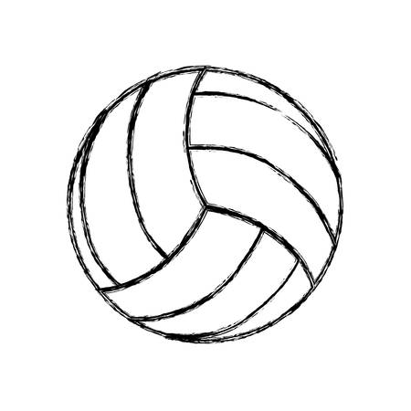 pastime: Voleyball ball isolated icon vector illustration graphic design