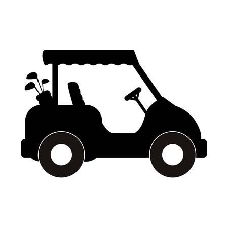 Golf caddy vehicle icon vector illustration graphic design