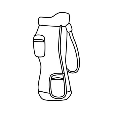 Golf clubs bag icon vector illustration graphic design