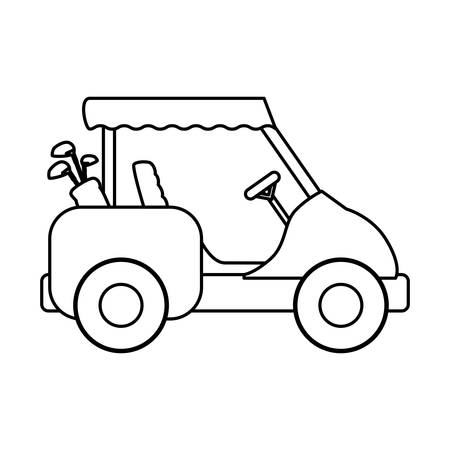 Golf caddy véhicule icône vector illustration graphisme Vecteurs