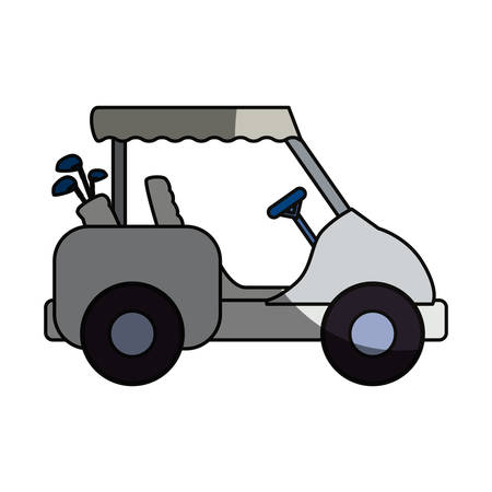 Golf caddy vehicle icon vector illustration graphic design