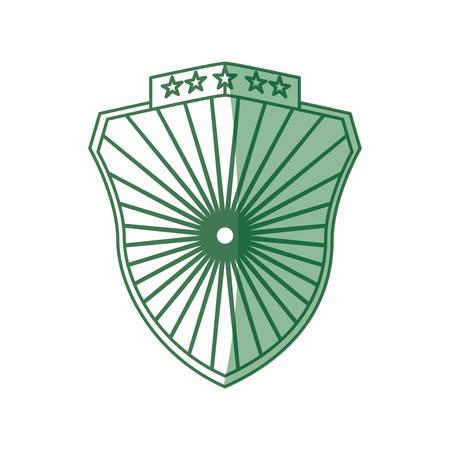 symbolics: Badge shield symbol icon vector illustration graphic design