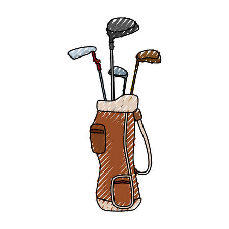 pastime: Golf clubs bag icon vector illustration graphic design