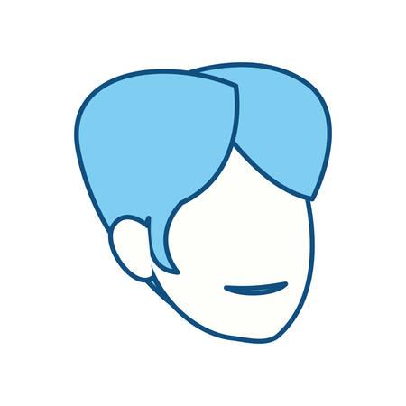 symbolics: Anonymous man faceless icon vector illustration graphic design Illustration