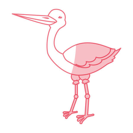 Stork bird cartoon icon vector illustration graphic design Illustration