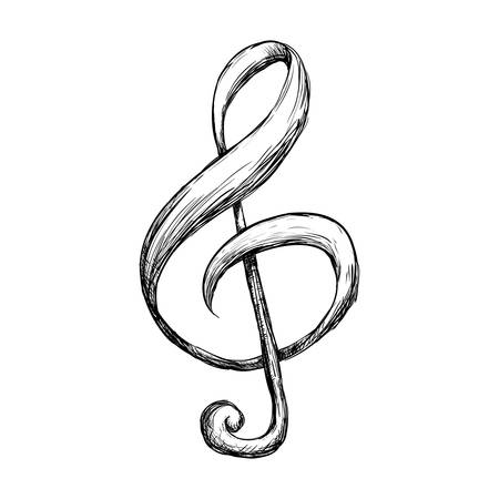 Music Note Symbol Icon Vector Illustration Graphic Design Royalty