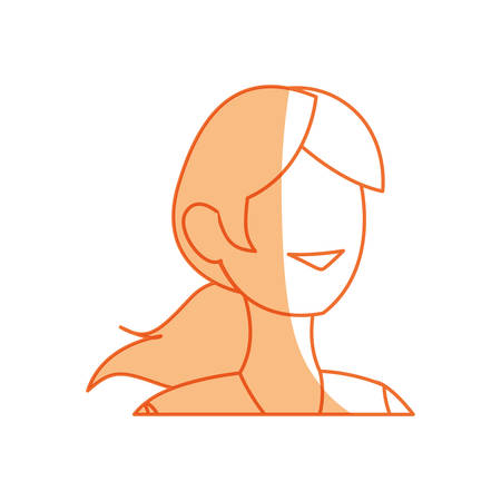 Woman faceless avatar icon vector illustration graphic design