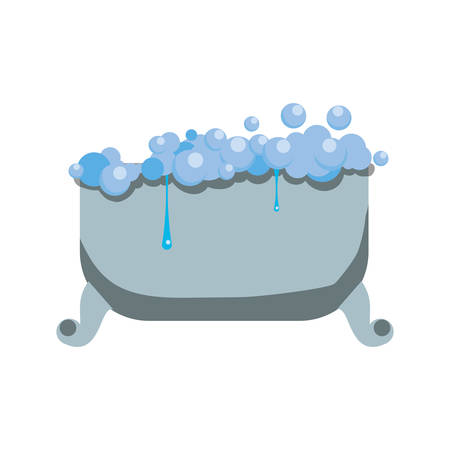 nobody: Bath tub isolated icon vector illustration graphic design Illustration