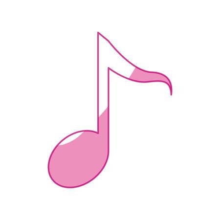 Note Musique symbole vecteur icône illustration de conception graphique Banque d'images - 80156856