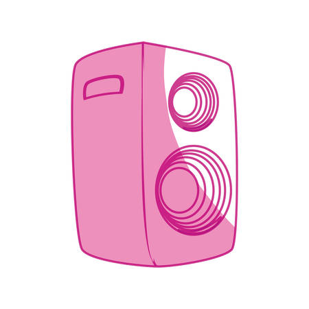 receiver: Music party speaker icon vector illustration graphic design