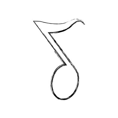 autograph: Music note symbol icon vector illustration graphic design