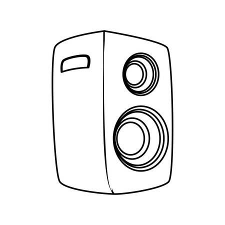 cd recorder: Music party speaker icon vector illustration graphic design