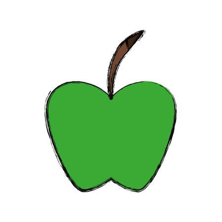 ilustration: Delicious apple fruit icon vector ilustration graphic Illustration