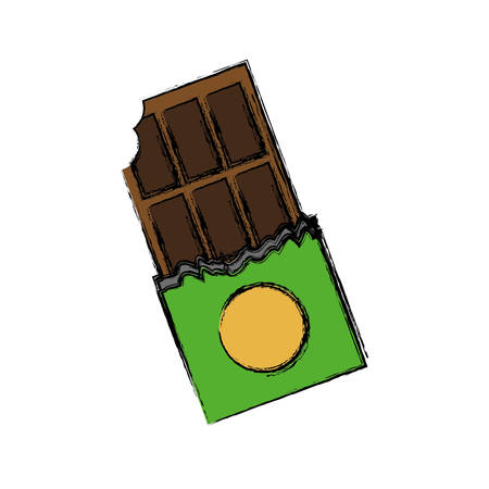 chocolate bar icon over white background vector illustration