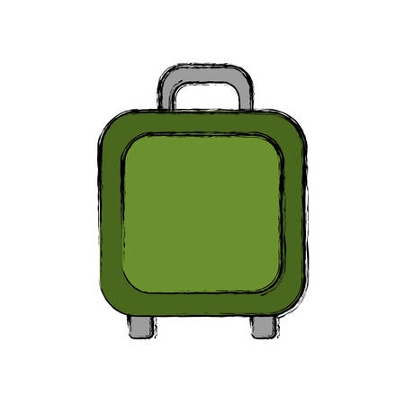 travel suitcase icon over white background vector illustration Illustration
