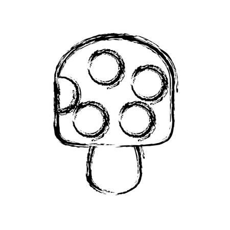 creamy: ice cream bar icon over white background vector illustration
