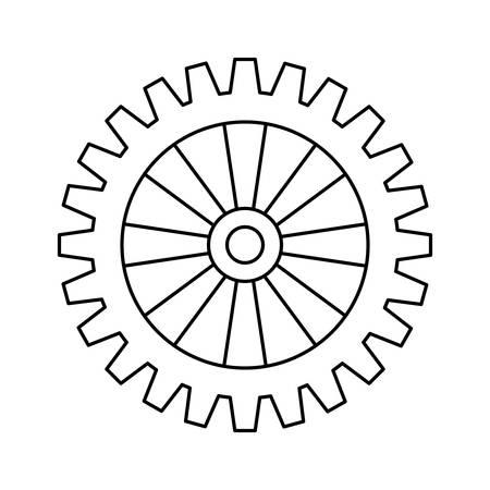 gearwheel: gear wheel icon over white background vector illustration Illustration