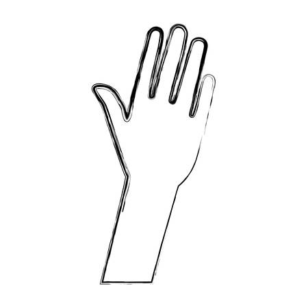 outstretched: outstretched hand icon  over white background vector illustration Illustration