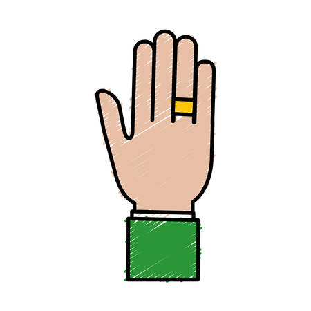 outstretched hand icon over white background vector illustration Illustration