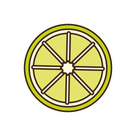 market gardening: lemon fruit icon over white background vector illustration