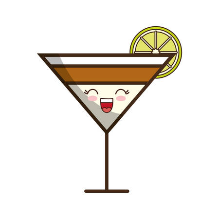 cocktail drink icon over white background colorful design vector illustration