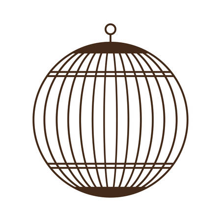 birdcage icon over white background vector illustration Illustration